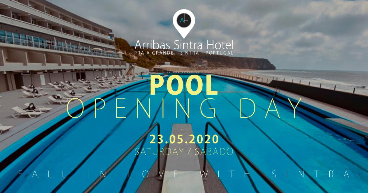 A piscina oceânica do Arribas Sintra Hotel, abre ao público dia 23 de Maio de 2020. Uma das maiores piscinas de àgua salgada de Lisboa e da Europa
