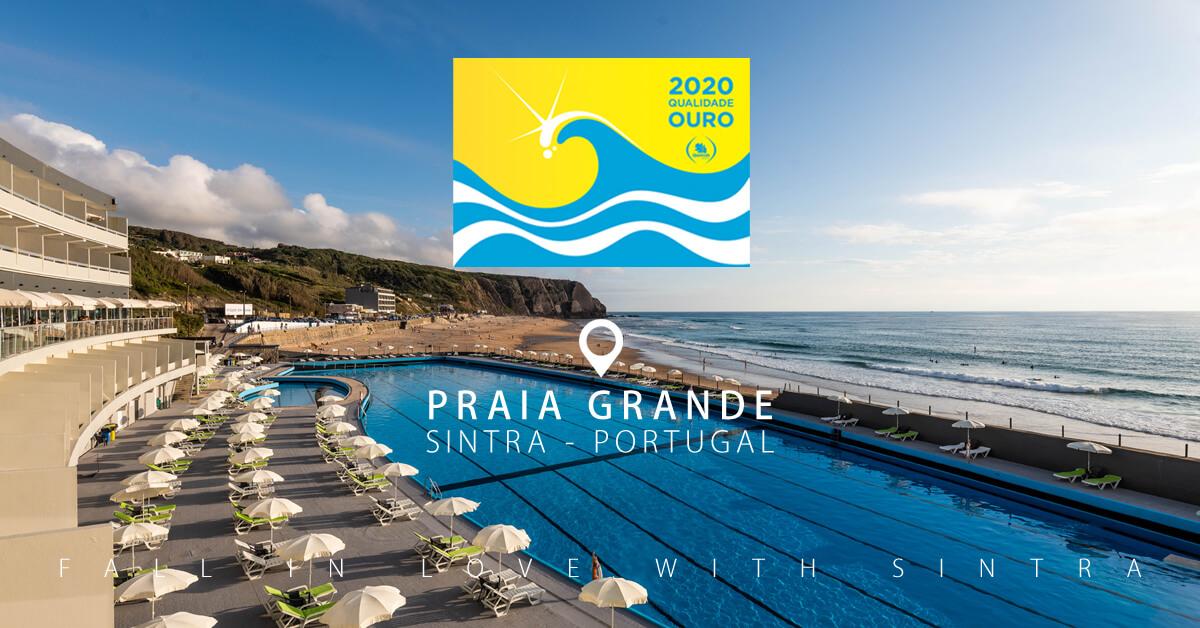 A Praia Grande em Sintra foi premiada com o Galardão de Ouro 2019