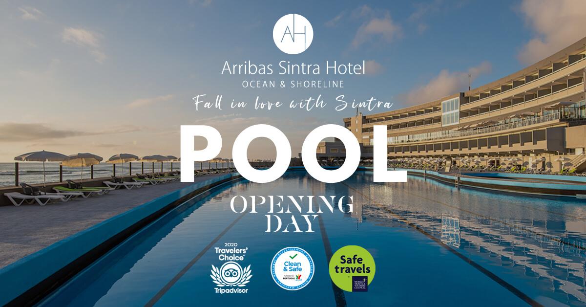 A piscina oceânica do Arribas Sintra Hotel, abre ao público dia 19 de Abril de 2021. Uma das maiores piscinas de àgua salgada de Lisboa e da Europa