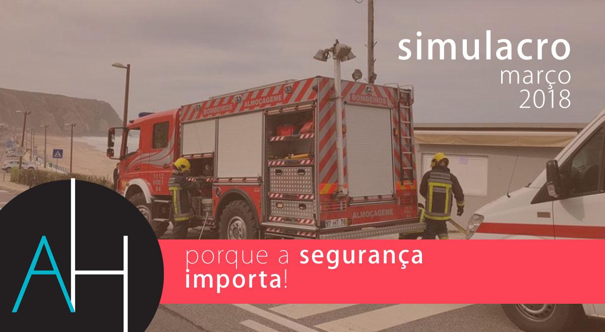 Simulacro, realizado no Arribas Sintra Hotel a pensar na segurança do staff, hóspedes e instalações.