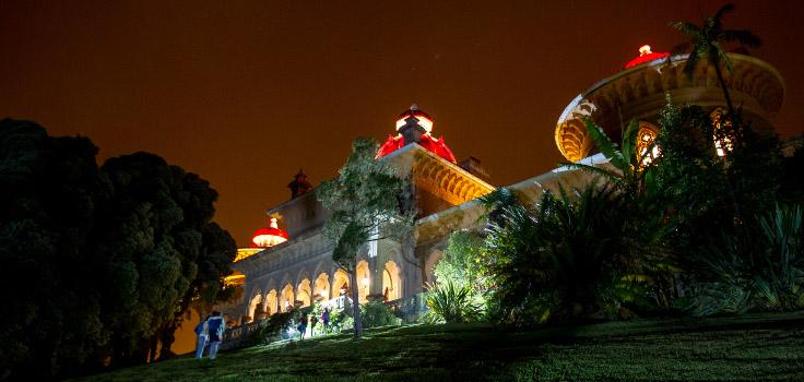 Abertura noturna no Palácio de Monserrate com incrições limitadas.