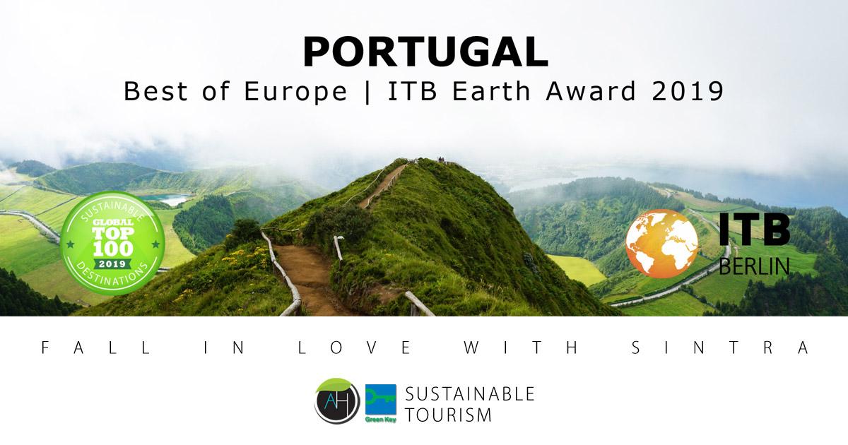 Portugal melhor da Europa no ITB Earth Award 2019. Arribas Sintra Hotel por Portugal, um destino sustentável