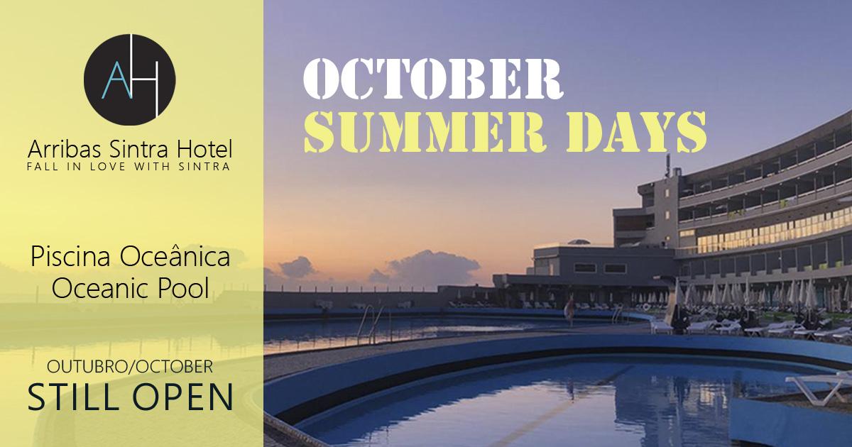 Piscina Oceânica do Arribas Sintra Hotel aberta ao público durante o mês de Outubro de 2019