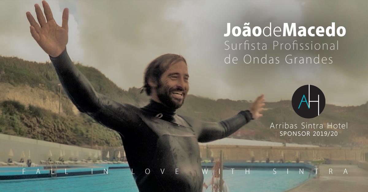 O Arribas Sintra Hotel anuncia patrocínio ao surfista nacional de ondas grandes João de Macedo.